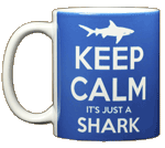 Keep Calm Shark Ceramic Mug - Front