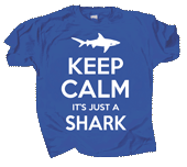 Keep Calm Shark Adult T-shirt