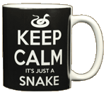 Keep Calm Snake Ceramic Mug - Back