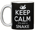 Keep Calm Snake Ceramic Mug