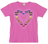 Butterfly Sweetheart Ladies Scoop-Neck T