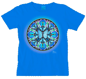 Morpho Butterfly Circle Ladies Scoop-Neck T test8