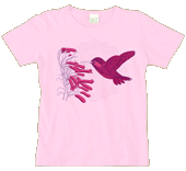 Hummingbird Flower Ladies Scoop-Neck Tee