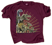Mesozoic Dinosaurs Adult T-shirt