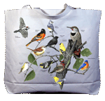 Eastern Birds Canvas Tote