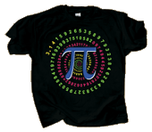 Pi Spiral Adult T-shirt