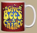 Give Bees A Chance Ceramic Mug - Back