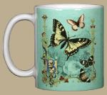 Victorian Butterflies Ceramic Mug