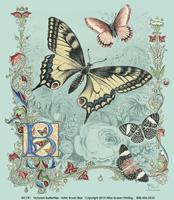 Victorian Butterflies Ladies Scoop-Neck T-shirt