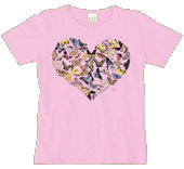 Butterfly Heart Ladies Scoop-Neck Tee