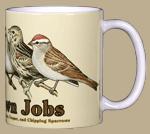 Little Brown Jobs Ceramic Mug - Back