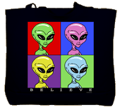 Believe in Aliens Canvas Tote Bag