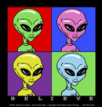 Believe in Aliens Canvas Tote Bag