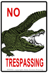 No Trespassing Gator 2
