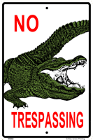 No Trespassing Gator Sign