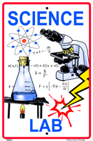 Science Lab Sign
