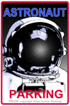 "Astronaut Parking 2"" X 3"" Magnet"