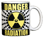 Radiation Warning Ceramic Mug - Back