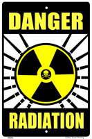 Radiation Warning Sign - Front