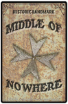 "Middle of Nowhere 2"" X 3"" Magnet"