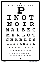 Wine Eye Chart Sign - Front