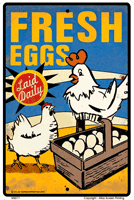 Vintage Fresh Eggs Sign - Front