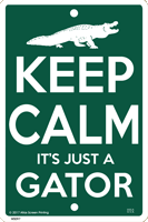 Keep Calm Gator Sign test8