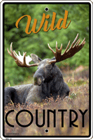 Wild Country Moose Warning Sign