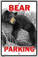 Bear Parking Sign