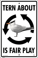 Tern About Is Fair Play Sign