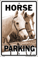 Horse Parking Sign