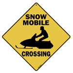 Snow Mobile Crossing - Front
