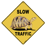 Slow Traffic (Tortoise) Crossing
