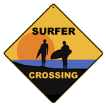 Surfer Crossing - Front