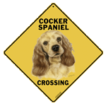 Cocker Spaniel Crossing Sign