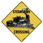 Steam Train Crossing - Front