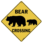 Bear Silhouette Crossing