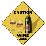 Caution Wine Zone - Front