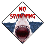 No Swimming Shark Sign