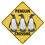 Penguin Crossing Sign