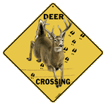 Deer Crossing Sign - Front