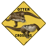 Otter Crossing Sign - Front