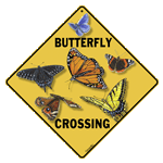 Butterfly Crossing Sign - Front