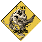 T-Rex Crossing Sign - Front