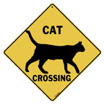 Cat Silhouette Crossing Sign test8