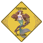 Mermaid Crossing Sign - Front