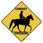 Cowboy Crossing Sign