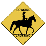 Cowgirl Crossing Sign test8