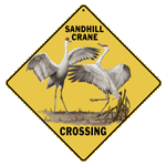 Sandhill Crane Crossing Sign