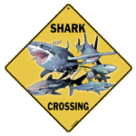 Shark Crossing Sign